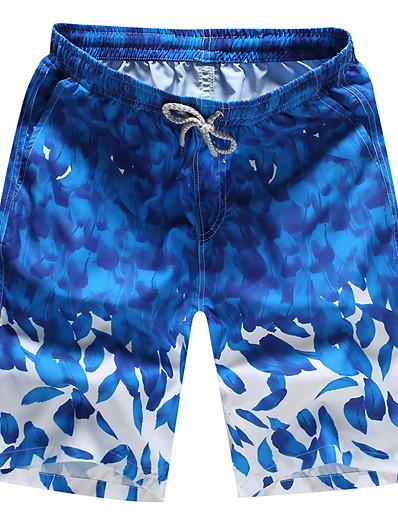 cheap Surfing, Diving & Snorkeling-Men's Swim Shorts Swim Trunks Quick Dry Micro-elastic Drawstring - Swimming Surfing Beach Autumn / Fall Summer
