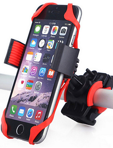 cheap Cycling-Bike Phone Mount Adjustable 360°Rolling / Rotatable GPS for Road Bike Mountain Bike MTB Motorcycle Silicon ABS iPhone X iPhone XS iPhone XR Cycling Bicycle Black Red Blue 1 pcs