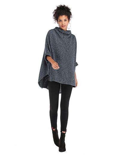 cheap Hoodies & Sweatshirts-Women's Basic / Street chic Sweatshirt - Solid Colored Black One-Size