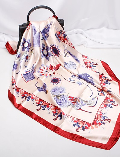 cheap NEW IN-Bandana Party / Active Square Scarf - Floral
