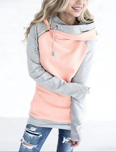 cheap Hoodies & Sweatshirts-Women's Plus Size Casual Slim Hoodie - Solid Colored White S