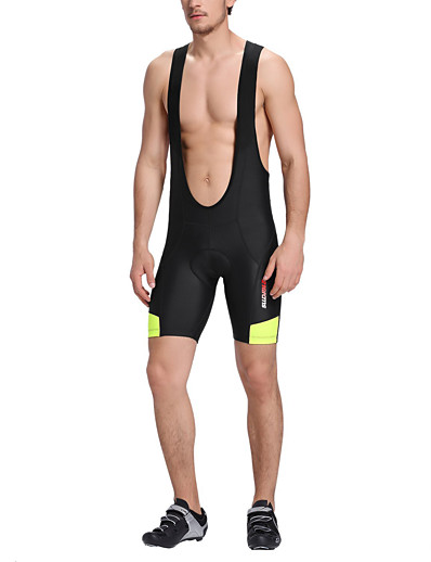 cheap Cycling-21Grams Men's Cycling Bib Shorts Spandex Bike Shorts Bib Shorts Breathable Quick Dry Sports Black Mountain Bike MTB Road Bike Cycling Clothing Apparel Form Fit Bike Wear / Stretchy