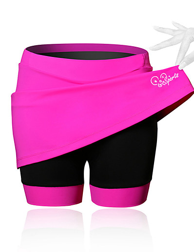 cheap Cycling-21Grams Women's Cycling Skirt Bike Shorts / Skirt / Padded Shorts / Chamois Breathable, 3D Pad Solid Colored, Patchwork, Classic Spandex Black / Blue / Pink Advanced Mountain Cycling Semi-Form Fit