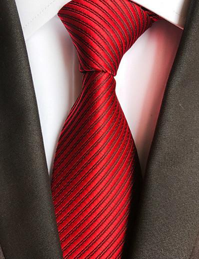cheap Men's Accessories-Men's Party / Work Necktie - Striped