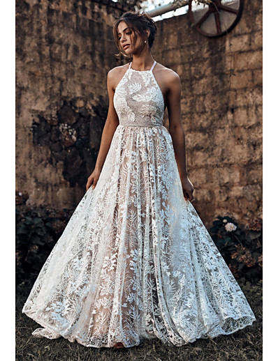 cheap Maxi Dresses-Women's Maxi Slim Swing Dress - Floral Strap Lace White S M L XL