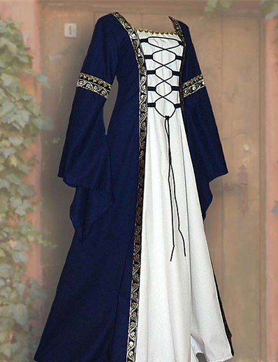 cheap Cosplay & Costumes-Outlander Cosplay Retro Medieval Vacation Dress Cosplay Costume Prom Dress Women's Costume Black / Wine / Blue Vintage Cosplay Party Halloween Festival