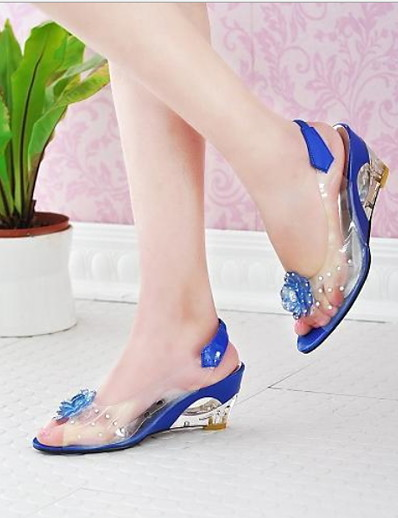 cheap Sneakers-Women's Sandals Flat Heel Peep Toe Patent Leather Summer Black / White / Yellow