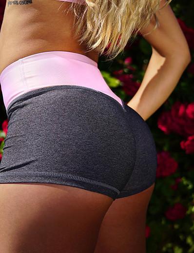 cheap SPORTSWEAR-Women's High Waist Yoga Shorts Shorts Butt Lift Breathable Quick Dry White Black Blue Gym Workout Running Dance Sports Activewear High Elasticity Skinny / Moisture Wicking