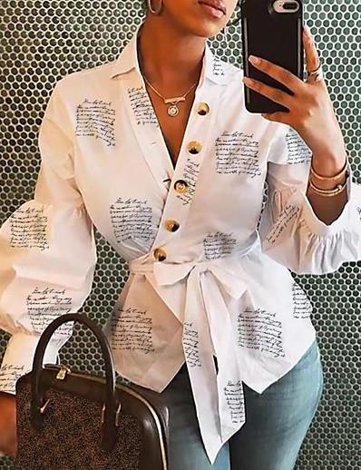 cheap TOPS-Women's Daily Shirt - Floral White