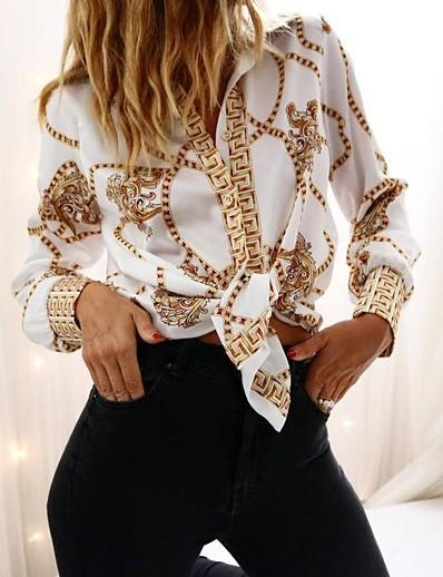 cheap TOPS-Women's Sheath Dress - Geometric White S M L XL