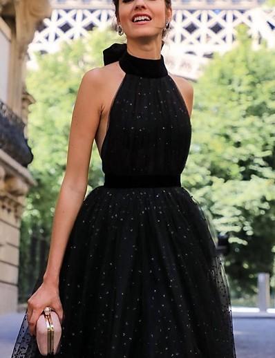 cheap Daily Dresses-Women's Sheath Dress - Solid Colored Lace up Black S M L XL