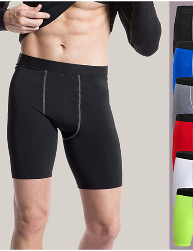 cheap Running, Jogging & Walking-YUERLIAN Men's Sports Underwear Compression Shorts Training Shorts Compression Clothing Briefs Elastane Gym Workout Basketball Running Triathlon Breathable Quick Dry Sweat wicking Sport Solid Colored