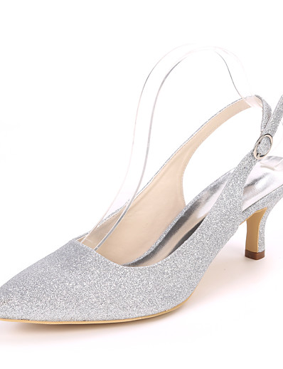 cheap Pumps & Heels-Women's Wedding Shoes Stiletto Heel Pointed Toe Synthetics Minimalism Fall / Spring & Summer White / Champagne / Light Purple / Party & Evening