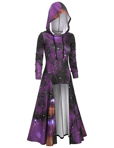 cheap Vintage Dresses-Women's Basic Hoodie - 3D Wine S