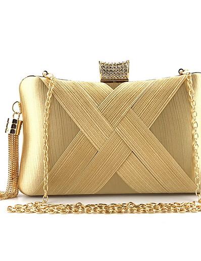 cheap Bags-Women's Zipper / Tassel Nylon Evening Bag Solid Color Gold / Silver / Blue