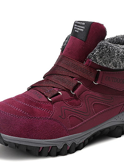 cheap Sneakers-Women's Athletic Shoes Flat Heel Round Toe PU Running Shoes Fall & Winter Black / Purple / Red