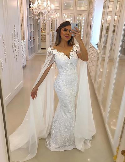 cheap WEDDING-Women's Sheath Dress - Solid Colored White S M L XL