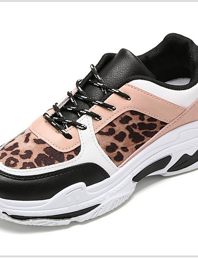 cheap Sneakers-Women's Athletic Shoes Flat Heel Round Toe PU Running Shoes Winter Black