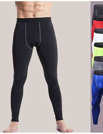 cheap Running, Jogging & Walking-YUERLIAN Men's High Waist Running Tights Leggings Compression Pants Athletic Base Layer Tights Leggings Spandex Elastane Winter Fitness Gym Workout Running Tummy Control Butt Lift Quick Dry Sport