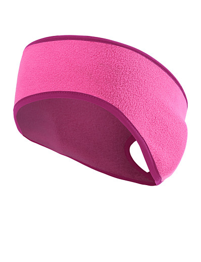 cheap Running, Jogging & Walking-Ponytail Headband Ear Warmer Sweatband Men's Women's Headwear Solid Colored Thermal Warm Windproof Breathable for Fitness Running Jogging Autumn / Fall Spring Winter Black Red Fuchsia