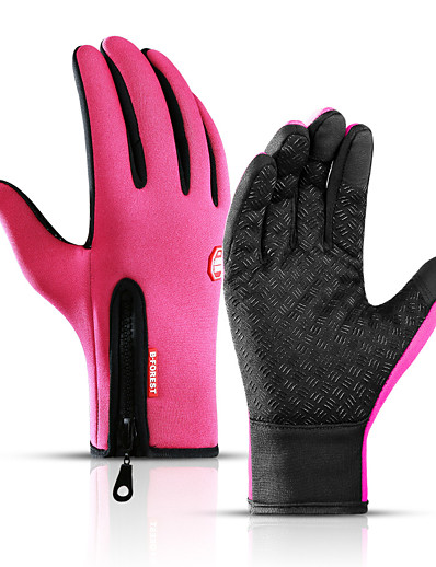 cheap SPORTSWEAR-Winter Gloves Running Gloves Full Finger Gloves Anti-Slip Touch Screen Thermal Warm Cold Weather Men's Women's Lining Skiing Hiking Running Driving Cycling Texting Fleece Neoprene Winter / SBR