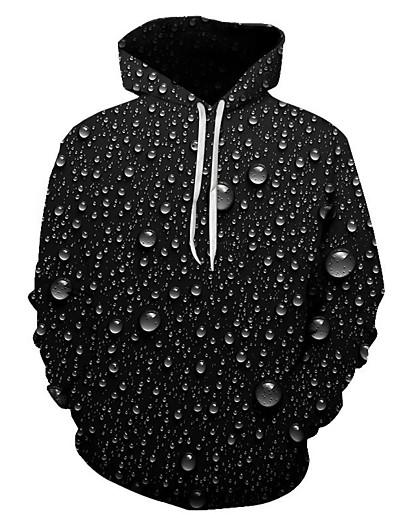 cheap Men's 3D-Men's Plus Size Pullover Hoodie Sweatshirt Print Graphic 3D Hooded Going out Club 3D Print 3D Print Casual Hoodies Sweatshirts  Long Sleeve Black