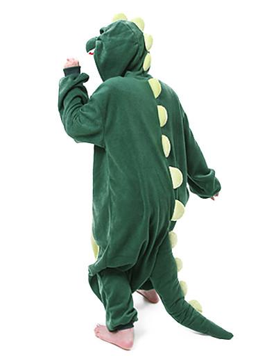 cheap Kigurumi Pajamas-Adults' Kigurumi Pajamas Nightwear Camouflage Dinosaur Animal Onesie Pajamas Polar Fleece Green Cosplay For Men and Women Animal Sleepwear Cartoon Festival / Holiday Costumes / Leotard / Onesie