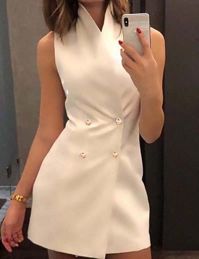 cheap Blazers-Women's Vest White / Black / Purple S / M / L