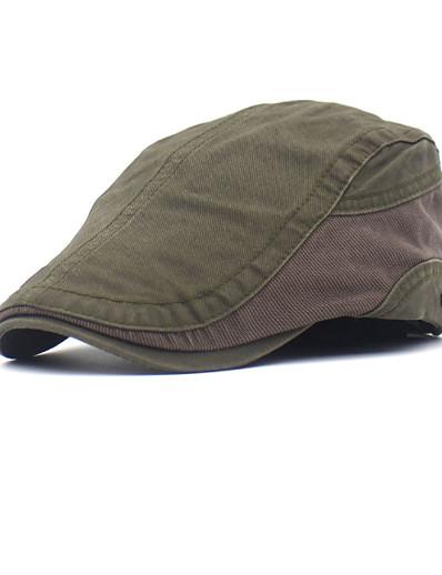 preiswerte Herrenmode Accessoires-Herren Barett Polyester Grundlegend - Einfarbig Schwarz Khaki Grün