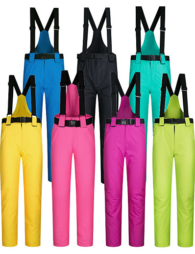 cheap Ski & Snowboard-Men's Women's Ski / Snow Pants Downhill Ski Thermal Warm Waterproof Windproof Nylon Cotton Warm Pants Bib Pants Ski Wear / Winter