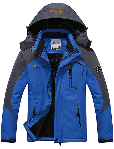 cheap Ski & Snowboard-Men's Ski Jacket Skiing Camping / Hiking Snowboarding Thermal Warm Waterproof Windproof 100% Polyester Winter Jacket Ski Wear
