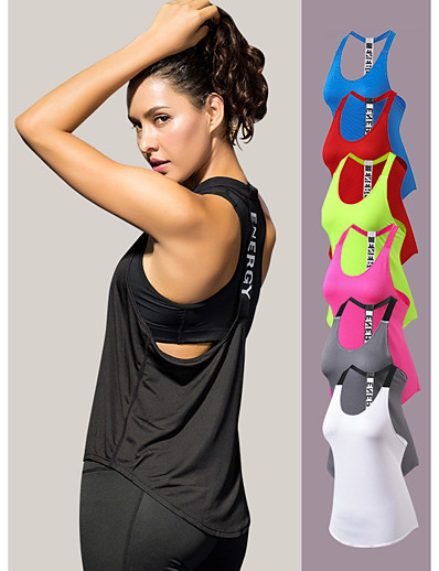 cheap Running, Jogging & Walking-YUERLIAN Women's Sleeveless Workout Tank Top Running Tank Top Running Singlet Racerback Base Layer Tank Top Athletic Breathability Quick Dry Fitness Gym Workout Exercise & Fitness Running Sportswear