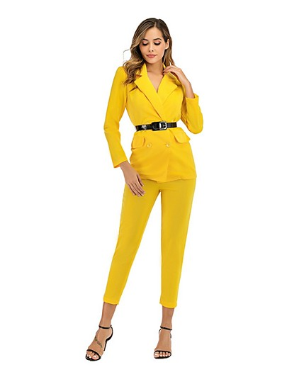 cheap CLOTHING-Women's Blazer - Solid Colored Pant
