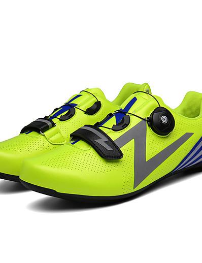 cheap SPORTSWEAR-Adults' Bike Shoes Road Bike Shoes Breathable Anti-Slip Mountain Bike MTB Road Cycling Cycling / Bike Silver Green Red Men's Women's Cycling Shoes