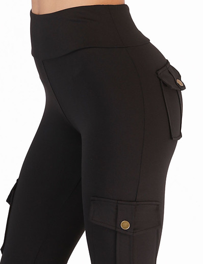 cheap Running, Jogging & Walking-Women's High Waist Running Tights Leggings Compression Pants Athleisure Tights Leggings Pocket Winter Fitness Gym Workout Performance Running Training Tummy Control Butt Lift Breathable Sport Solid