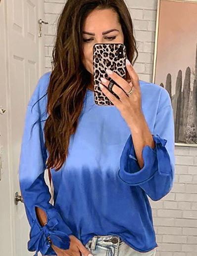 cheap Hoodies & Sweatshirts-Women's Basic Sweatshirt - Solid Colored Purple S