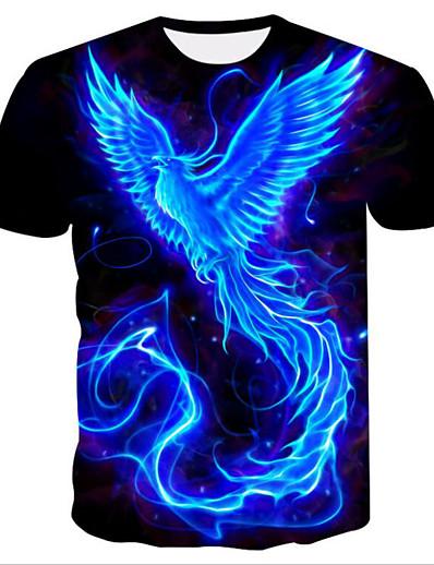 cheap TOPS-Women's Daily Basic T-shirt - 3D Print Blue