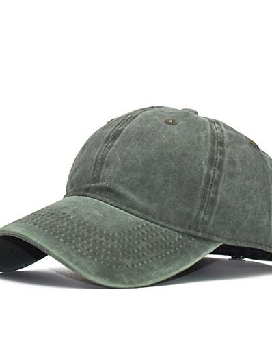 preiswerte Herrenmode Accessoires-Herren Baseball Kappe Solide Stoff Hut