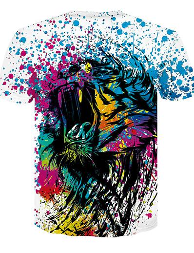 cheap TOPS-Women's Daily Basic T-shirt - 3D Rainbow