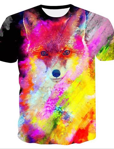 cheap TOPS-Women's Daily Basic T-shirt - 3D Print Rainbow