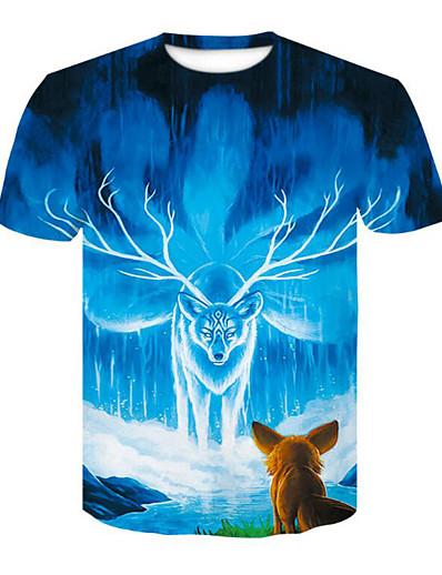 cheap TOPS-Women's Daily Basic T-shirt - 3D Blue
