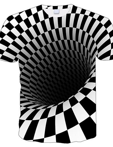 halpa perhe sopivat asut-Uusi vuosi T-paita Perheen ilme Geometrinen Painettu Valkoinen Musta Lyhythihainen Vastaavat asut