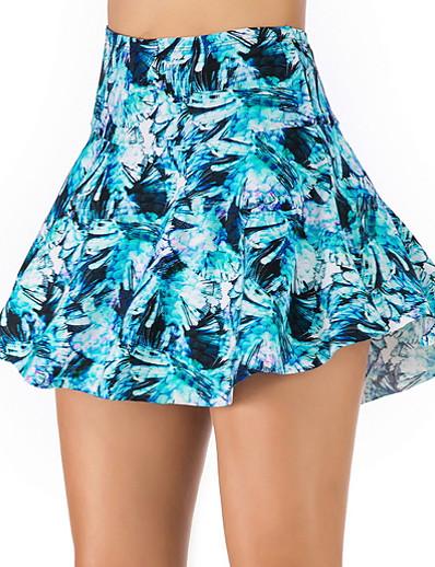 cheap Bikini Bottoms-Women's Bikini Bottoms Swimsuit Floral Swimwear Bathing Suits Light Blue Green