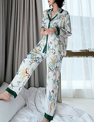 cheap Pajamas-Women's Notch Lapel Suits Pajamas Geometric