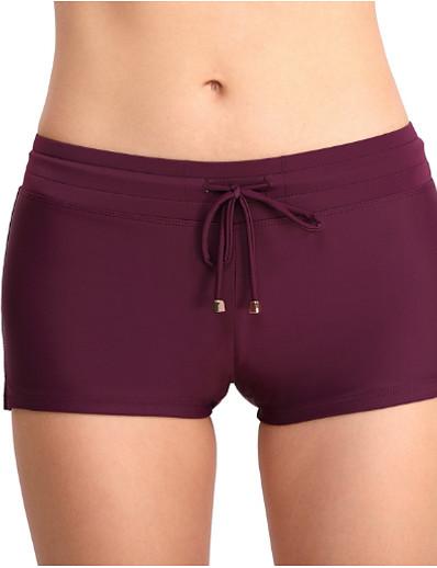 cheap Bikini Bottoms-Women's Bikini Bottoms Swimsuit Solid Colored Swimwear Bathing Suits Black Purple