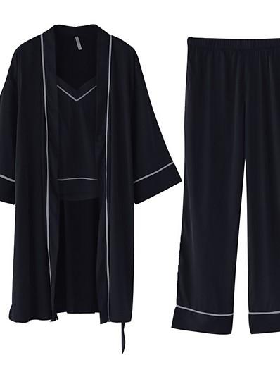 cheap Pajamas-Women's Deep V Suits Pajamas Solid Colored