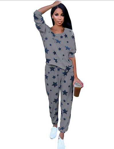 cheap Pajamas-Women's Suits Nightwear White Red Navy Blue S M L