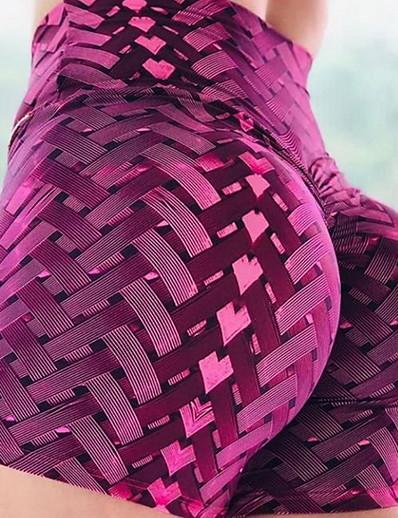 cheap Women's Shorts-Women's Basic Legging Geometric Print High Waist Black Purple Yellow S M L / Slim