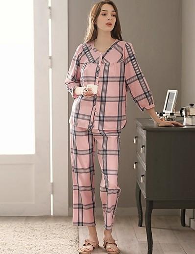 cheap Pajamas-Women's Suits Nightwear Blushing Pink One-Size