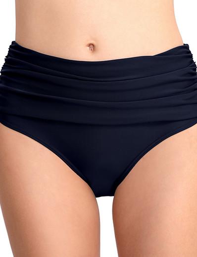 cheap Bikini Bottoms-Women's Beach Bottom Swimsuit High Waist Black Purple Royal Blue Navy Blue Swimwear Bathing Suits